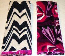 """MISSONI x Target 'Purple Passione Floral' Bath Towel Reverse b/w Zig Zag 58""""x30"""""""