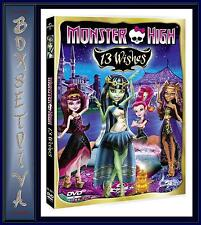 MONSTER HIGH - 13 WISHES  *BRAND NEW DVD **