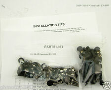 NEW 04 05 ZX-10R ZX10R COMPLETE SILVER FAIRING BOLTS FASTENERS SCREWS KIT USA