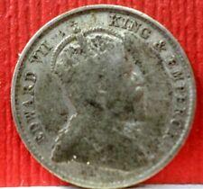 1903 Straits Settlements King Edward Vii 5 cents Sliver Km # 20 A-715