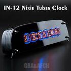 IN-12 Arduino Shield Nixie Tubes Clock in Stylish Black Acrylic Case GRA AFCH
