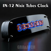Painted Plywood Case for IN-12 Nixie Tubes Clock GRA/&AFCH