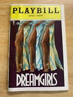 DREAMGIRLS - IMPERIAL THEATRE PLAYBILL - DECEMBER 1982 - CLEAVANT DERRICKS
