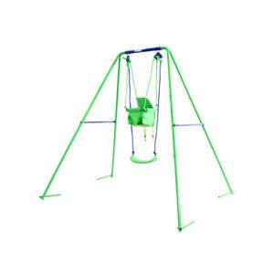2 in 1 Toddler Outdoor Swing Kids Baby Nursery Garden Chair Childrens Playground