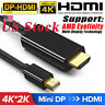 1.8M Mini Display Port Thunderbolt HDMI Cable Adapter For MacBook Pro iMac MAC