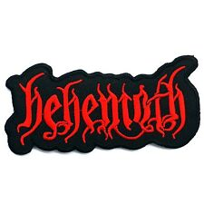BEHEMOTH PATCHES EMBROIDERED DEATH METAL MUSIC BAND SEWING OR IRON ON 10.5x5 CM