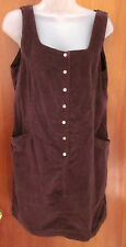 ESPRIT vtg short Fall dress size 9-10 corduroy pearl snaps NEW throwback NWT