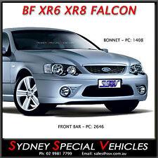 BF XR6 XR8 FRONT BUMPER BAR PLASTIC FITS BA BF FALCON SEDAN UTES FPV