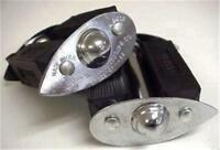 """antique mens Persons Majestic TEARDROP bicycle PEDALS 1/2"""" thread vintage PAIR"""