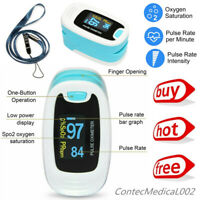 Finger Pulse Oximeter Blood Oxygen SpO2 Monitor PR Heart Rate Patient Monitor US
