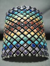 New ListingMost Colorful Navajo Turquoise Coral Sterling Silver Bracelet