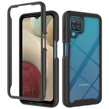 For Samsung Galaxy A12 Shockproof Slim Bumper Transparent Hard PC+TPU Case Cover