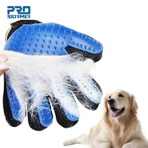 Dog Pet Grooming Glove Comb Silicone Cats Hair Gloves Dogs Bath Cleaning Supplie