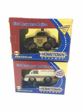 Ertl Hometown Roadway Wooden First Response Police Car & Ambulance