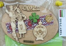 and Luck with Magnet 2020s Wooden Handmade Bulgarian Folklore Souvenir Health