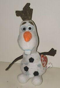 "TY BEANIE BABIES DISNEY FROZEN II MOVIE OLAF SNOWMAN SPARKLE SNOWFLAKE 8"" PLUSH"