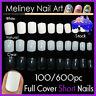 100/600Pc Short Nails Full Cover Gel Art Nail Manicure False supply Square Fake