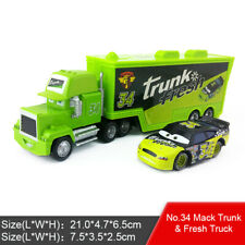 Disney Pixar Car No.34 Mack Racer's Truck & Trunk Fresh Toy Model Car Boys Gift