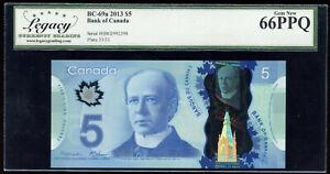 2013 Bank of Canada Polymer $5 - Carney Signature Legacy Gem New 66PPQ