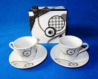 4 Piece Demitasse Espresso Coffee Cup & Saucer Gift Box ~ Coffee Beans, Set #E
