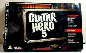Guitar Hero 5 Playstation 3 full Guitar bundle WIRELESS CONTROLLER For PS3