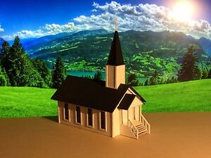 HO Scale Country Church Kit