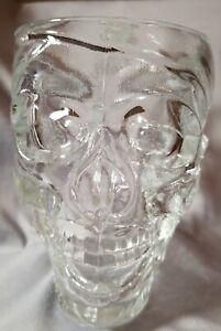 Treasure Island Casino 32 oz Glass Skull Pirate Mug Cup Disney