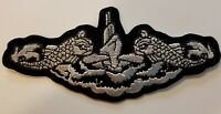US NAVY SILVER DOLPHINS SILENT SERVICE PATCH - MADE IN THE USA!