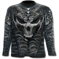 Spiral Direct SKULL ARMOUR AllOver Long Sleeve T-Shirt Skulls/Biker/Rock/Metal/