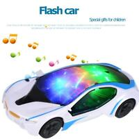 3D Universal Electric Car Toy LED Flashing Light Music Sound Kids Gift Toys Gift
