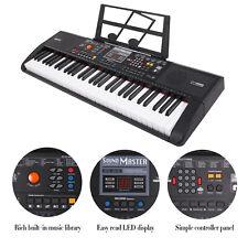 61 Key Digital Music Piano Electronic Keyboard Portable Musical Instrument w/Mic
