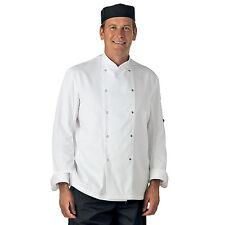 More details for white long & short sleeve chef jacket (unisex)