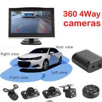 360 Degree Bird View System 4 Camera Panoramic Car DVR Recording Parking Cam