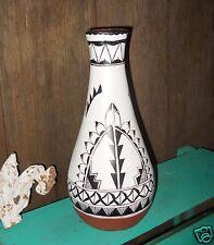 Black White Southwest Jar Contemporary Gallery Native American Zia Pueblo Signed