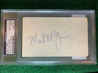 Mark McGwire PSA 3x5 Autograph Index Card #83375736 Homerun Leader Early Auto