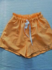 Handmade yellow linen blend shorts. Small