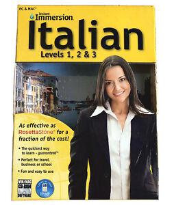 Instant Immersion Italian: Levels 1, 2, & 3, 9 CD Set Brand New