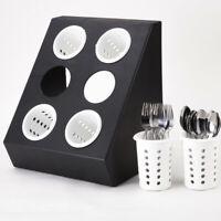 Cutlery Holder Kitchen Utensil Organiser Spoons Storage Drainer Flatware LA2