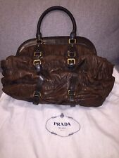 AUTHENTIC PRADA NAPPA GAUFRE'AN TOTE SHOULDER BAG IN EXCELLENT CONDITION