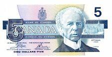Canada … P-95a … 5 Dollars … 1986 … *UNC*