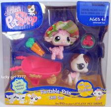 2007 NIP Littlest Pet Shop Portable Pets Gift Set Lamb/Sheep Pony/Horse 584 585