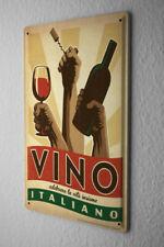 Tin Sign Food Restaurant Decoration Italian wine Metal Plate 8X12