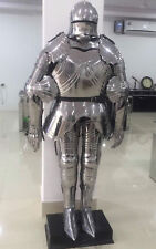 Full Gothic Functional Plate Knight Suit Of Armor Wearable Halloween Costume