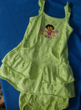 Nick Jr. DORA Green Eyelet Dress Outfit Size 3T