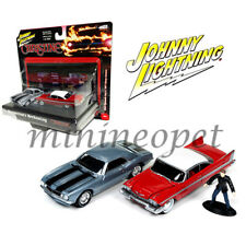 JOHNNY LIGHTNING JLCP7042 CHRISTINE 1958 PLYMOUTH FURY & 1967 CHEVY CAMARO 1/64