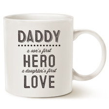 Unique Fathers Day Gifts Ceramic Coffee Mug for Dad Daddy A Son's First Hero
