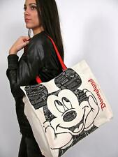 NWT DISNEY SHOPPER TOTE CANVAS BAG PURSE CARRY ALL PURSE MICKEY MOUSE DISNEYLAND