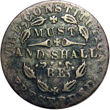 Constitution Must & Shall Be Preserved R6 Indiana Primitive Civil War Token