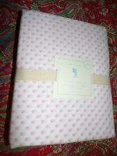 POTTERY BARN KIDS MINI DOT SHEET SET, white with PINK dots , NEW, QUEEN
