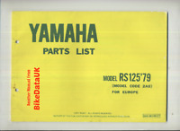 Yamaha RS125 DX (<1979>) Genuine Parts List Catalog Book Manual RS 125 2A0 BX50